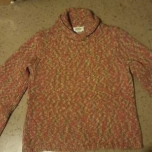 Talbots Cableknit Cowl Neck Sweater L
